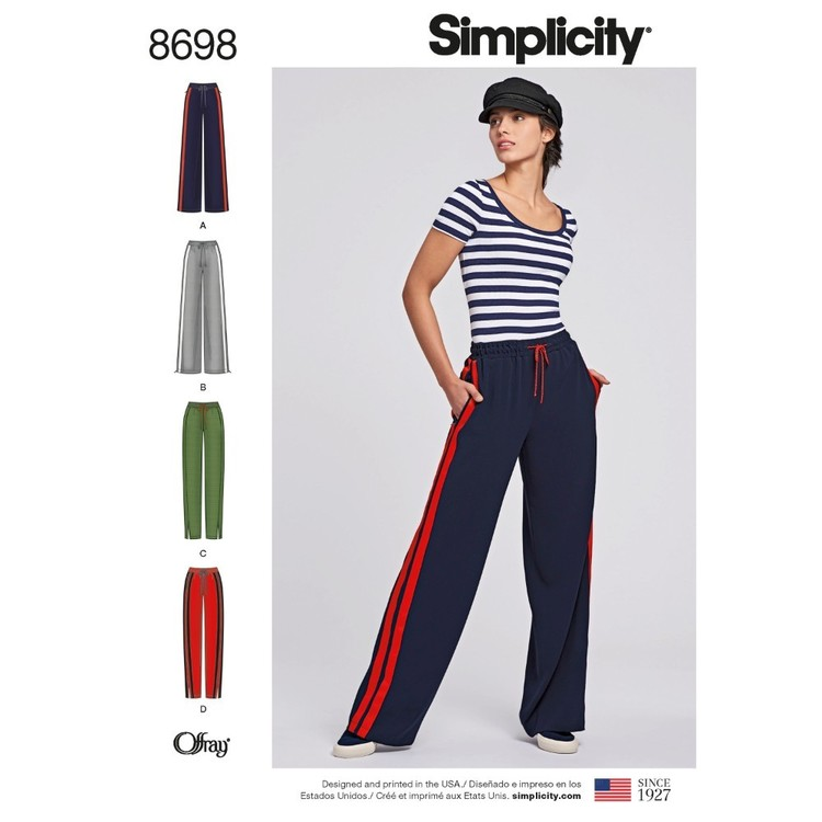 Simplicity Pattern 8698 Misses' Pull-On Pants