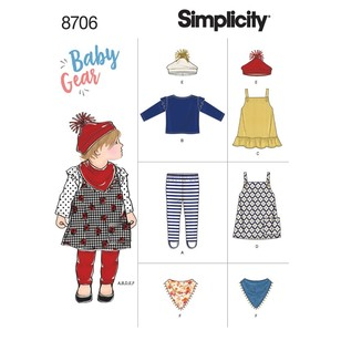 Simplicity Pattern 8706 Baby Gear Separates