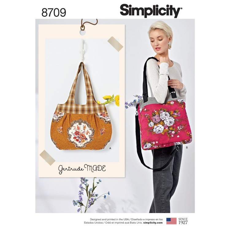 Simplicity Pattern 8709 Gertrude Made Bags