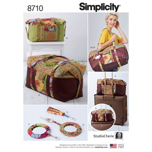 Simplicity Pattern 8710 Luggage Bags, Key Ring, and Tassel