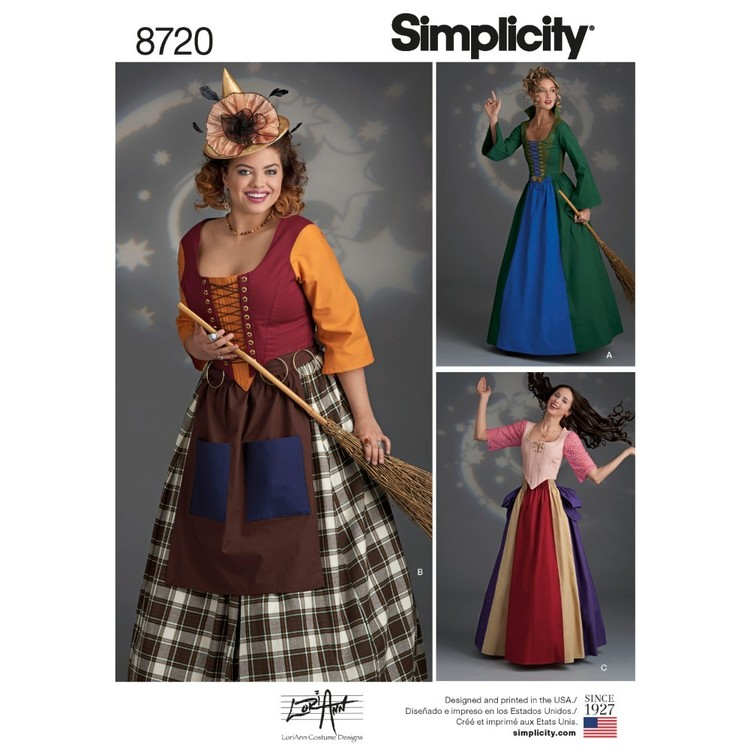 Simplicity Pattern 8720 Misses' Costumes