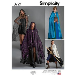 Simplicity Pattern 8721 Misses' Capes