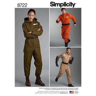 Simplicity Pattern 8722 Misses', Men's, And Teens' Costumes