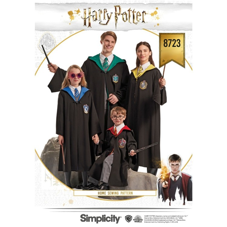Simplicity Pattern 8723 Harry Potter Unisex Costumes