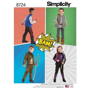 Simplicity Pattern 8724 Child's Costumes