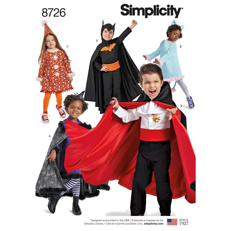 Simplicity Pattern 8726 Child's Costumes