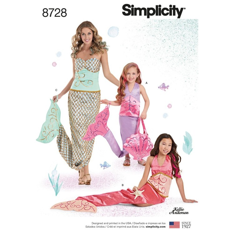 Simplicity Pattern 8728 Children's, Girls', And Misses' Costumes