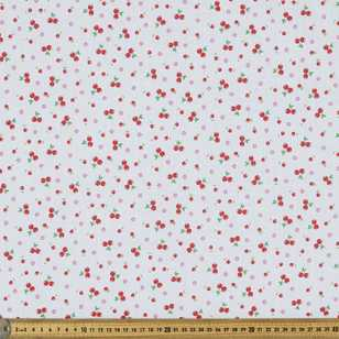 Mix N Match Cute Cherries Printed Polyester Cotton Fabric