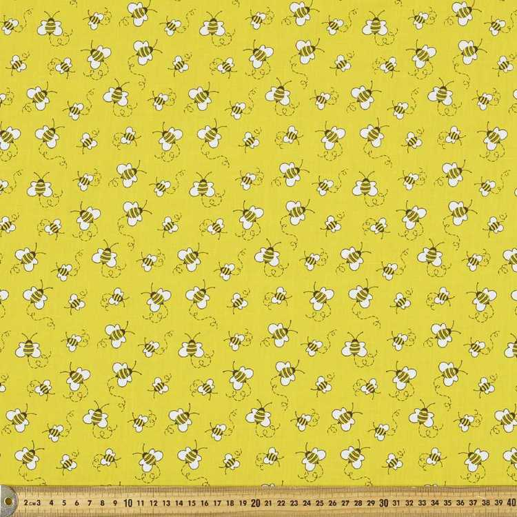 Mix N Match Honey Bee Printed Polyester Cotton Fabric
