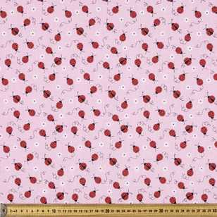 Mix N Match Ladybird Printed Polyster Cotton Fabric