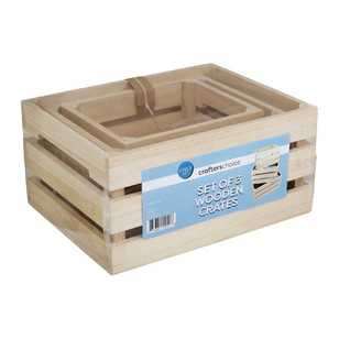 Crafters Choice 3 Piece Wooden Crate Set