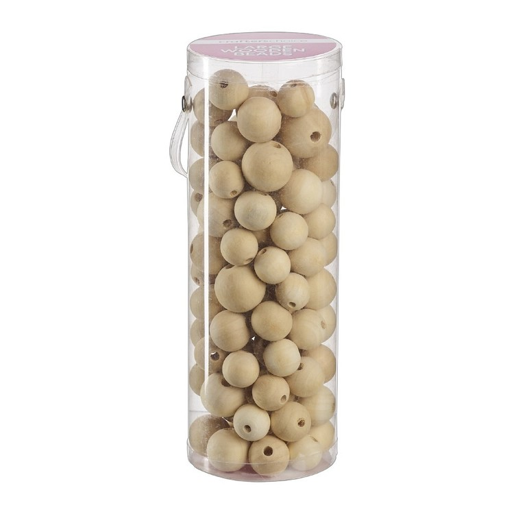 Crafter's Choice Large Wood Beads in Tube Natural 205 mm