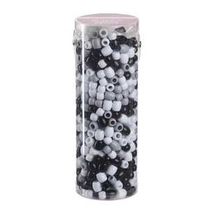 Crafter's Choice Black & White Beads in Tube