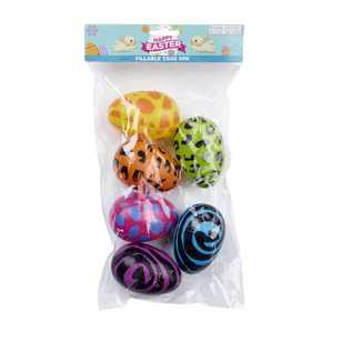 Daisy Chain Fillable Eggs Animal Print 6 Pack