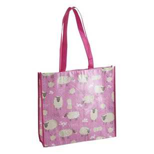 Sew Easy Sheep Knitting Printed Shopping Bag