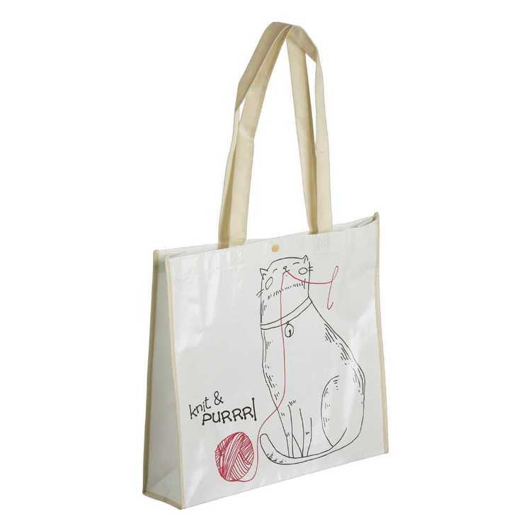 Sew Easy Cats Knitting Printed Shopping Bag