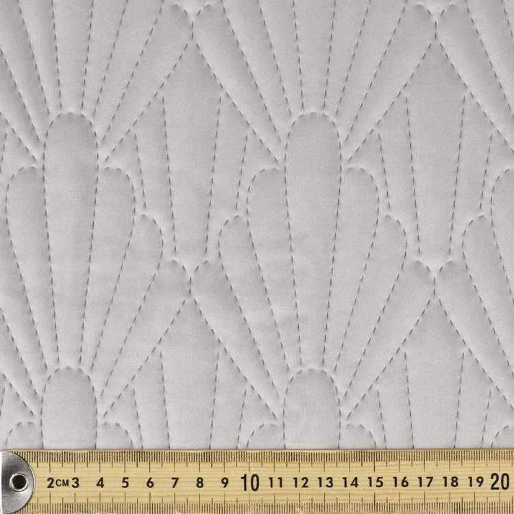 Shell Quilted Velvet Fabric
