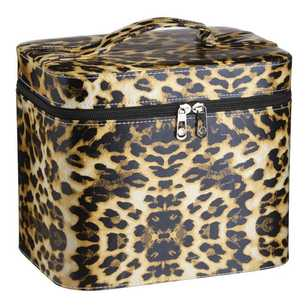 Vinyl Leopard Sewing Box