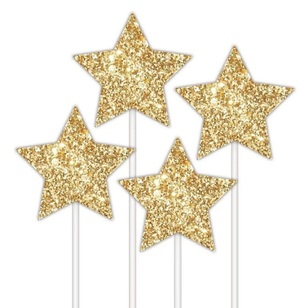 Star Cake Topper 4 Pack