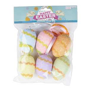 Daisy Chain Pastel Hanging Eggs