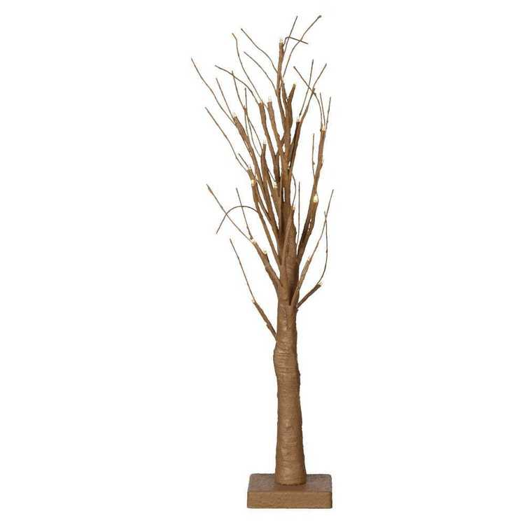 Daisy Chain Twig Tree with Lights Natural