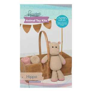 Passioknit Hippo Animal Cushion Kit