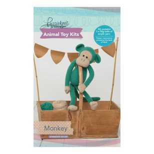 Passioknit Monkey Animal Cushion Kit