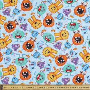 Monsters Printed Flannelette Fabric