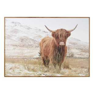 Cooper & Co Wooden Highland Cow