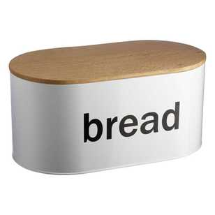 Culinary Co Oval Bread Bin With Wooden Lid