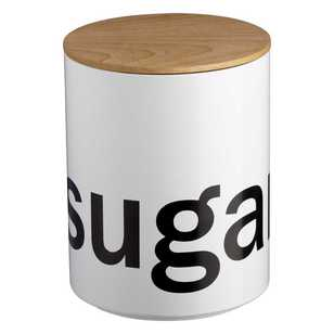 Culinary Co Round Sugar Canister With Wooden Lid