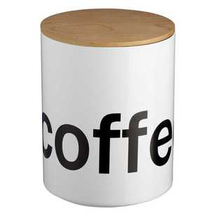 Culinary Co Round Coffee Canister With Wooden Lid