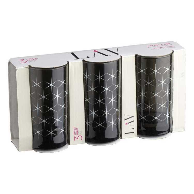 LAV Pack of 3 Ada Glitter Glass