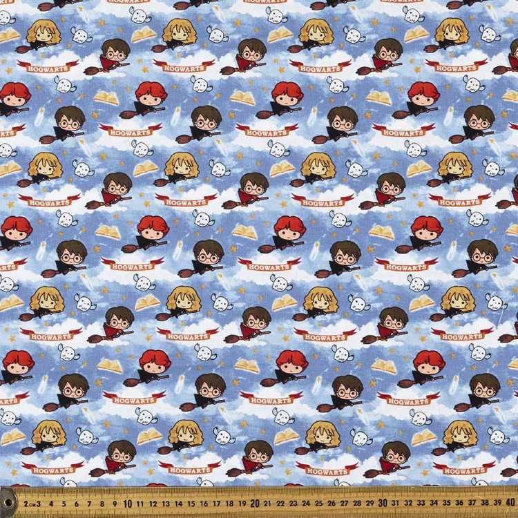 Harry Potter Allover Quidditch Cotton Fabric