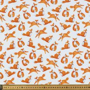 Spot the Fox Printed Flannelette Fabric