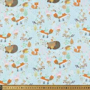 Foxy & Friends Printed 112 cm Flannelette Fabric