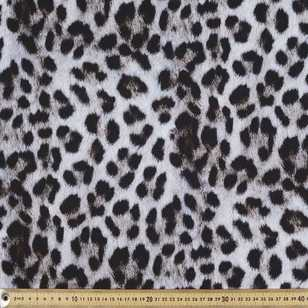 Snow Leopard Print Cotton Fabric