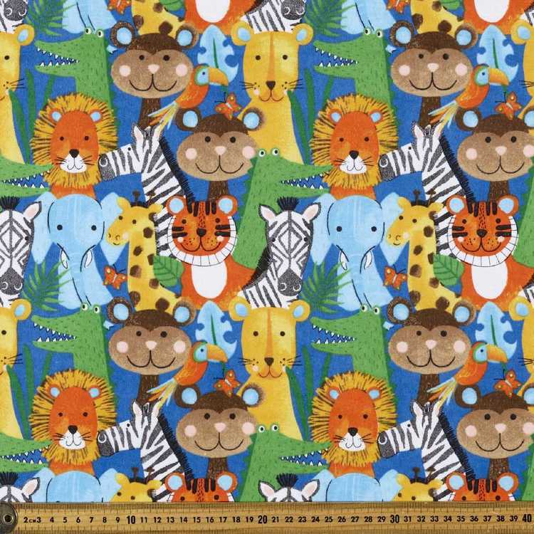 Animal Kingdom Printed Flannelette Fabric