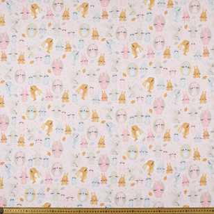 Bunny Bounce #2 Printed Flannelette Fabric