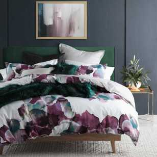 Logan & Mason Breeze Plum Quilt Cover Set