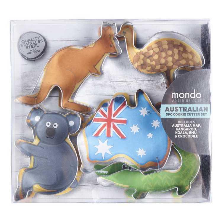 Mondo Australian 5 Piece Cookie Cutter Set