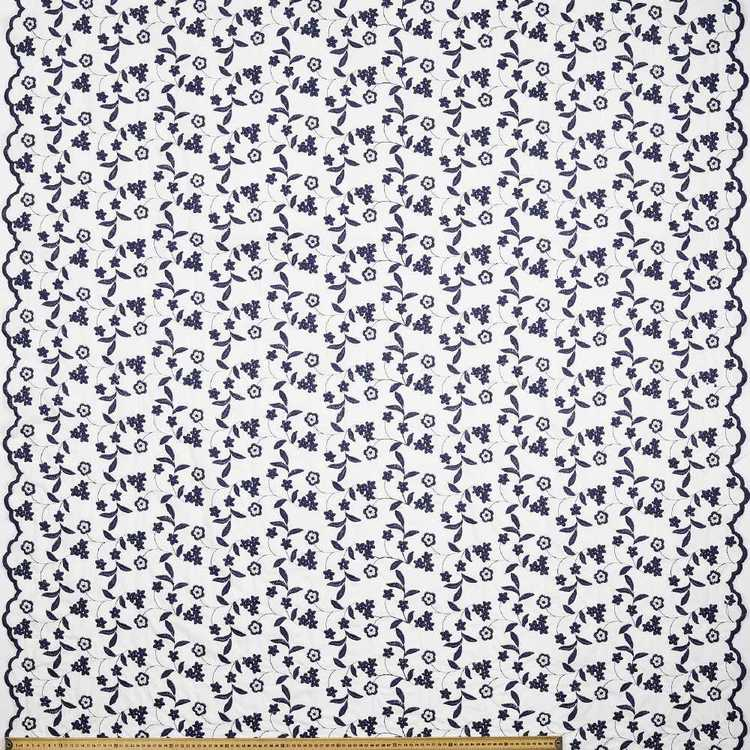 Embroidered Double Border 130 cm Fabric