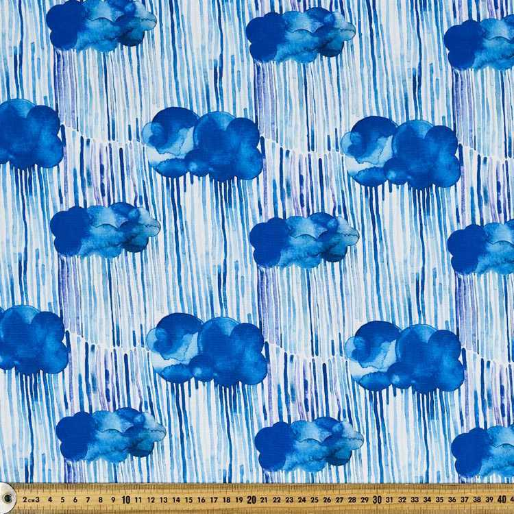 Ninola Digital Rainy Clouds Cotton Fabric