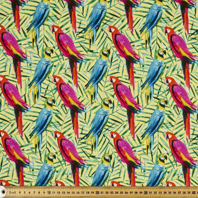 Ninola Digital Parrots Cotton Fabric