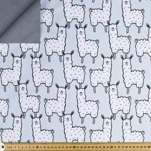 Llama Printed 144 cm Soft Shell Fleece Fabric
