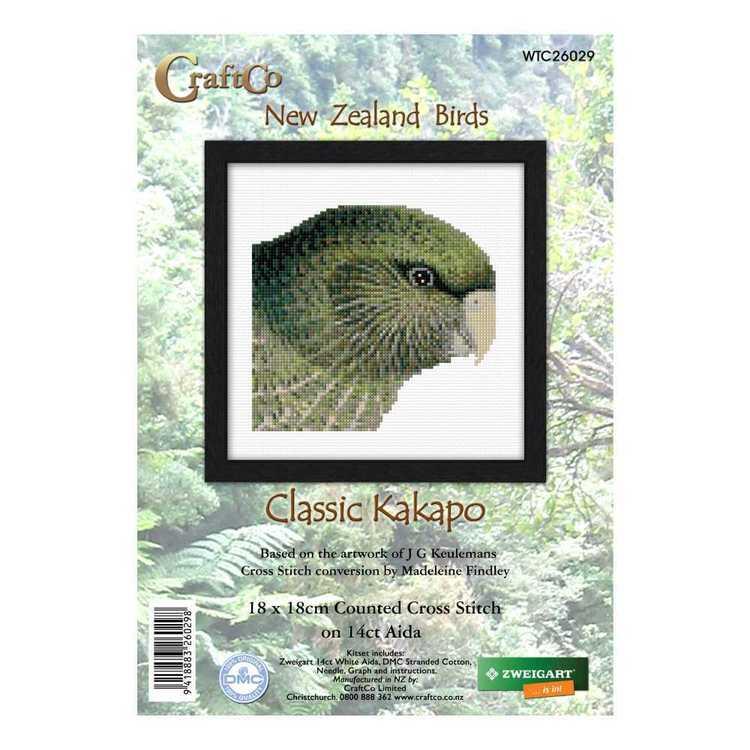 DMC Classic Kakapo Cross Stitch Kit