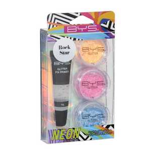 BYS Rock Star Neon Glitter Face & Body Kit