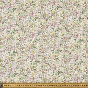 Pretty Floral Printed Japanese Lawn Fabric