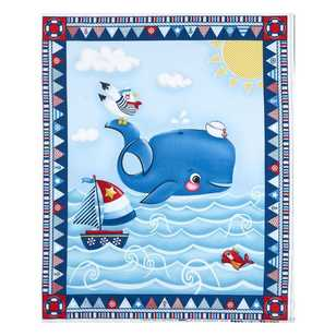Studio E Whale Of A Time Cotton Panel