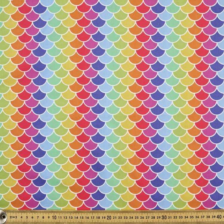 112 cm Spots & Stripes Rainbow Scales Fabric